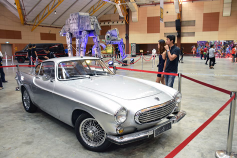 The 1962 Volvo driven by Roger Moore in The Saint is on display