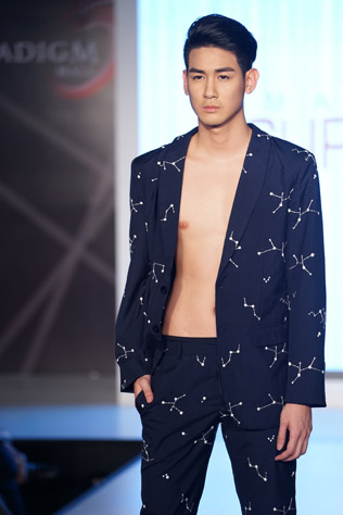 Wil Beh struts down the catwalk