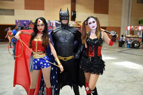 Wonder Woman, Batman and Harley Quinn