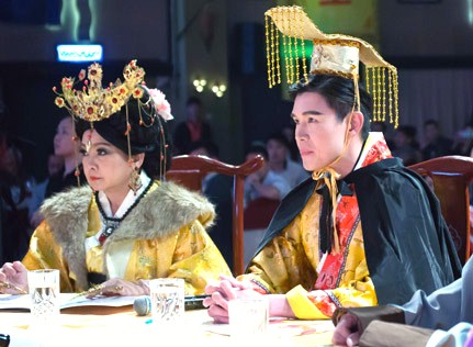 Empress Dowager and the Emperor are among the contest judges