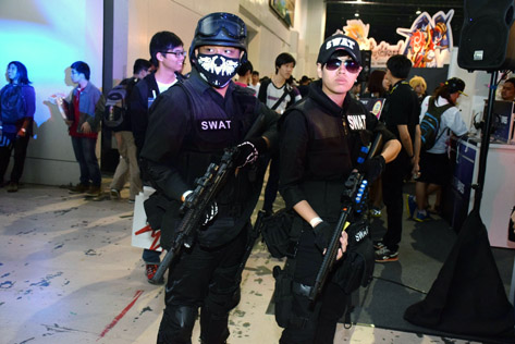The SWAT Team was at Comic Fiesta 2015 to ensure safety of fans