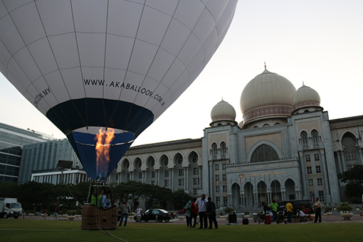 Balloon Ride for esteemed partners, sponsors and members of the media before the press conference