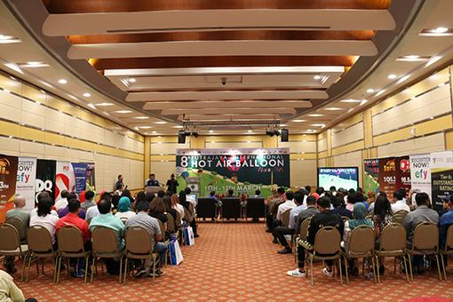 The 8th Putrajaya Hot Air Balloon Fiesta's official press conference held inside of Dewan Seri Melati in Precint 3, Putrajaya.