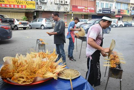 Chicken satay a hot pick at the CNY Satay Party