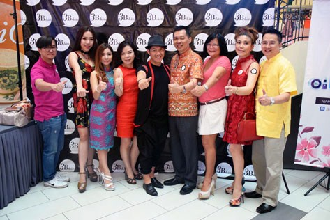 Jason Hee (fourth from right) posing with his guests at X Brand Ambassador fashion show