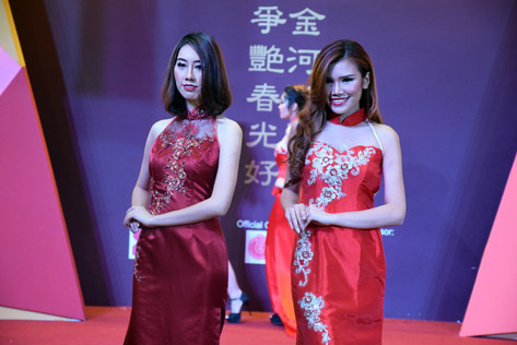 Models parade in cheongsam