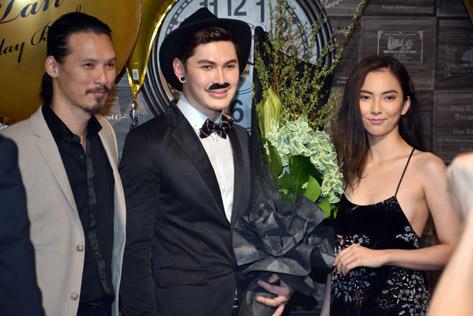 Wilson Tan (centre) with Daren Lee and Agnes Vanora