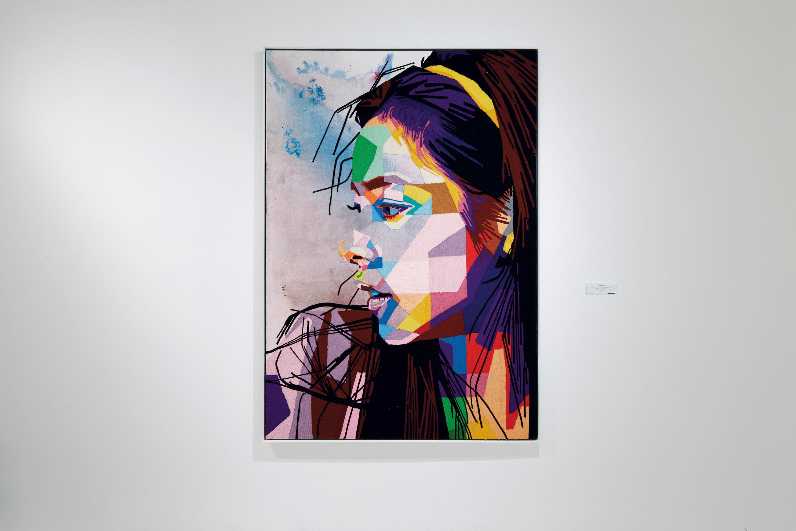 Emotion, Muhammad Hafiz Abdul Gapor, Thread & Acrylic on Canvas, 152x213, 2016
