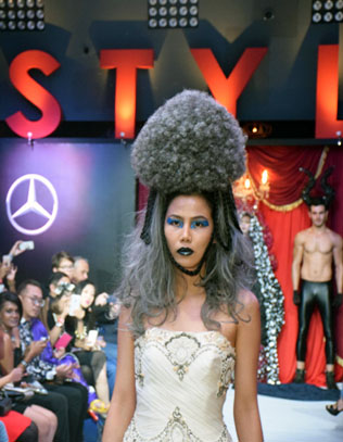 Models donned imaginative avant-garde hair creations