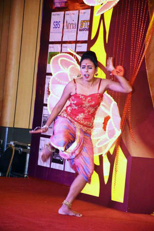 Puneetha Raja Ram (Group A) shows off her dance skill