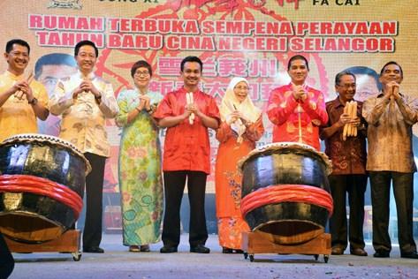 Selangor state CNY 2016 open house at Dataran Petaling Jaya