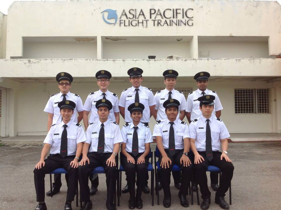 in 2013 and was accepted into Asia Pacific Flight Training (APFT) and completed his course to become a co-pilot