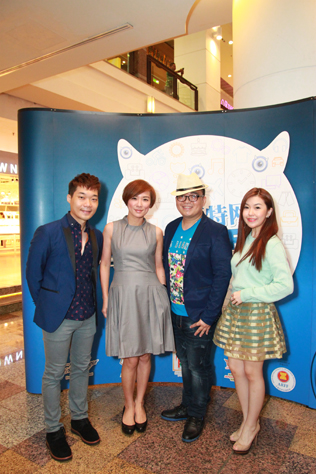 (L-R) Ryan Yong, local celebrity cum radio deejay Wong Chui Ling, Brian Lee and Joey Tan