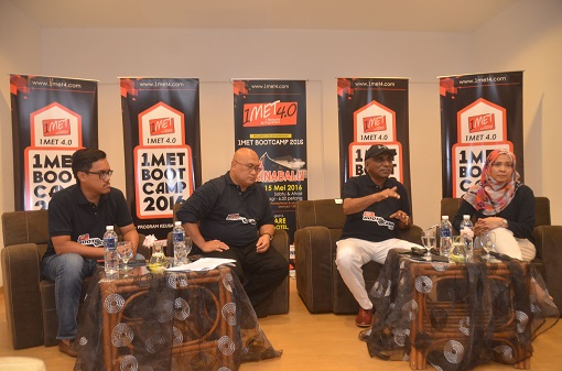 Press conference (left to right Zahrain, Aminuddin, TS Irwan and Nadira)