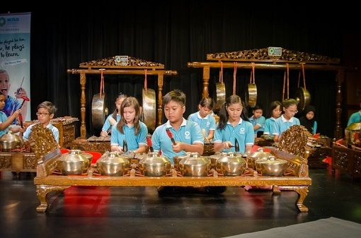 The young gamelan ensemble of Nexus International School Putrajaya showcasing their talents Nexus is one of the few schools in Malaysia that teaches and has a team of Gamelan performers