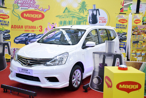 Three Nissan Grand Livina 1.6 (A) cars await lucky winners of Balik Kampung With Maggi Ramadan contest