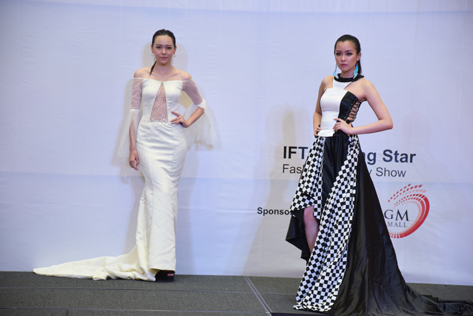 Models strutted their stuff on a catwalk wearing creations by IFTC aspiring designers