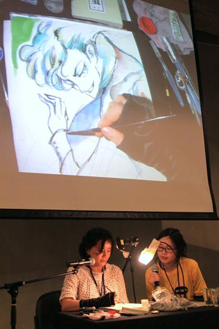 Singaporean comic book artist and illustrator Foo Swee Chin or FSc doing a live demo at CAFKL 2016