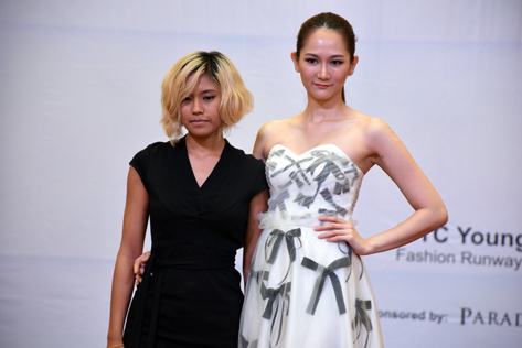 Yui Yoshioka (left) is determine to stamp her own mark in the fashion industry one day