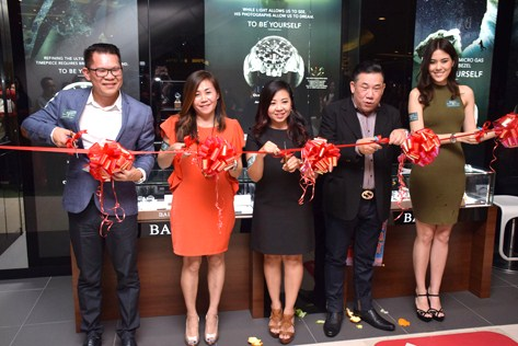 (L-R) AWG Fine Watches executive director CH Liow, Callie Liow, Ball Watch deputy general manager Evelyn Wang, Raymond Chu and Chloe Chen at the Ball Watch boutique opening in 1Utama, Petaling Jaya