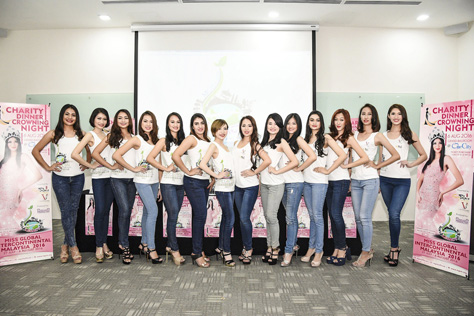 MGIM organisation unveiled their top 14 finalists to take home the coveted Miss Global Intercontinental Malaysia 2016 and three major international beauty titles.