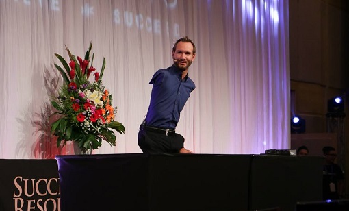 Nick Vujicic at the Success Resources 2016 Seminar. Images courtesy of Gomagan Arvin