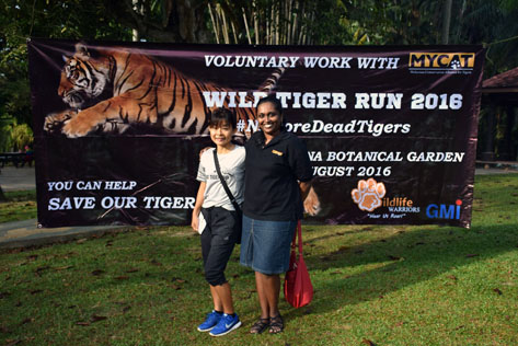 MYCAT president Dr Kae Kawanishi (left) and conservation officer Loretta Shepherd