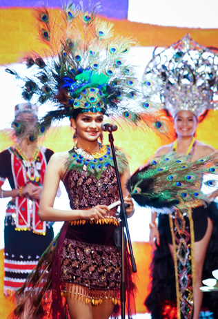 Olivia Constance Nicholas in her own interpretation of Malaysia's national costume
