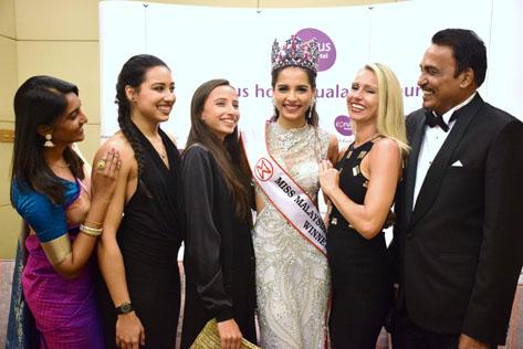 Tatiana Kumar sharing her joy after winning the Miss Malaysia World 2016