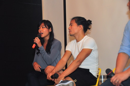 Cheryl Yeoh and Khailee during a panel discussion