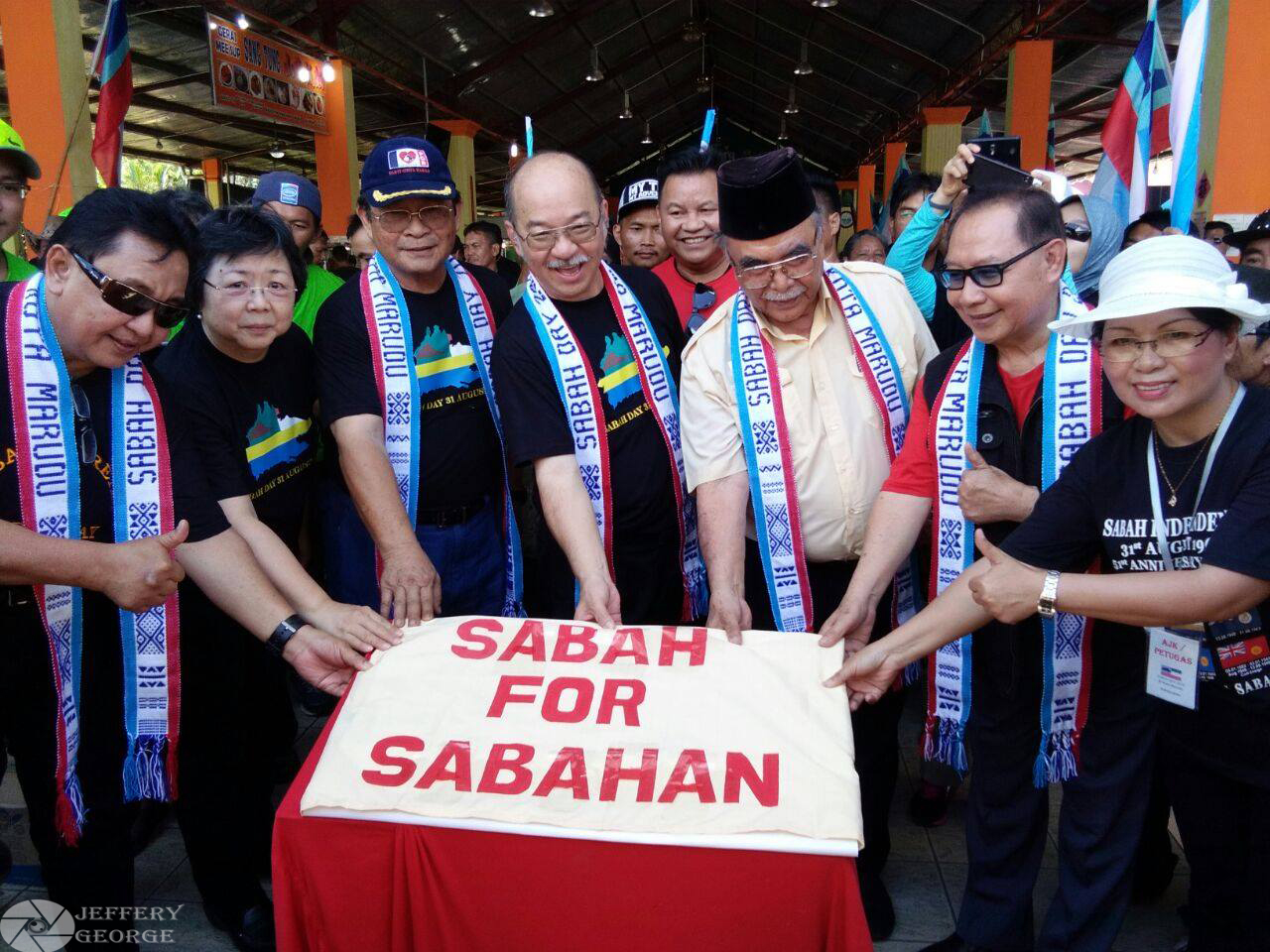 sabah for sabahan banner by all the united sabah alliance leader