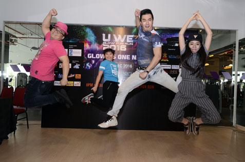 Celebrities show support for charities in U We Glow Fun Run 2016