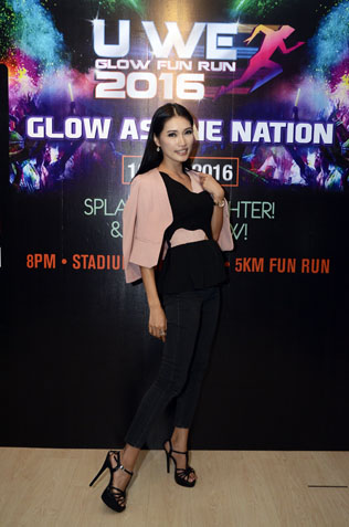 Supermodel Amber Chia is one of the celebrity runners taking part in the U We Glow Fun Run 2016 for the second year running