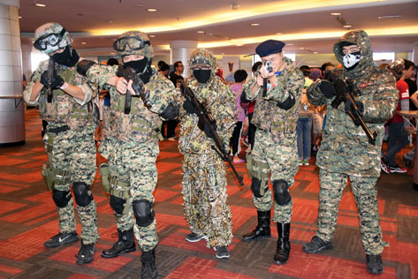 The Spetsnaz Special Force from video game Black Ops @ Animangaki 2016