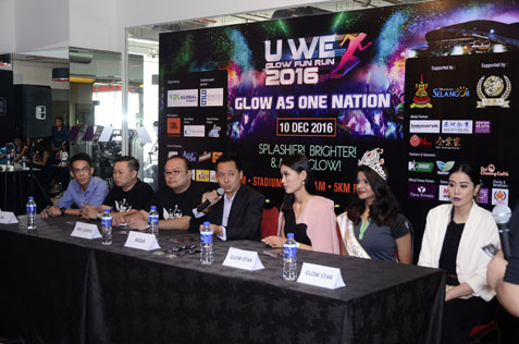 The press conference on the U We Glow Fun Run 2016