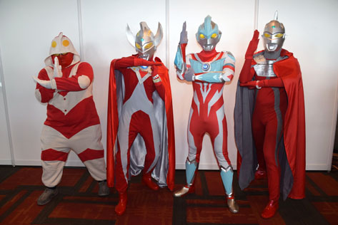 Ultraman cosplayers at Animangaki 2016