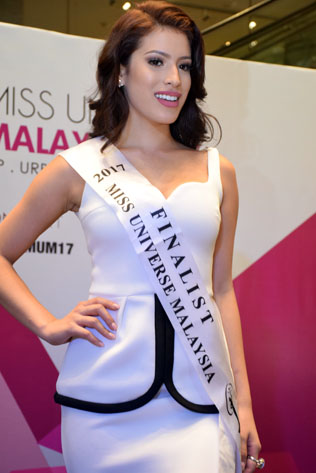Miss Universe Malaysia 2017 finalist Samantha Katie, of mixed Chinese/Brazilian blood, is a hot favourite for winning the title.