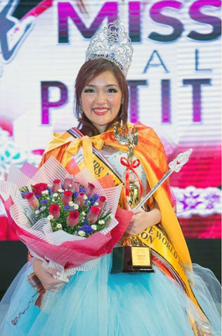Winni Lai, 29, a mother of two, was crowned Mrs Malaysia Petite World 2017