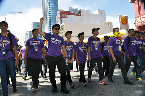 INSIGHT: 'Purple Shirts', The Unsung Heroes of Bersih 5 Rally