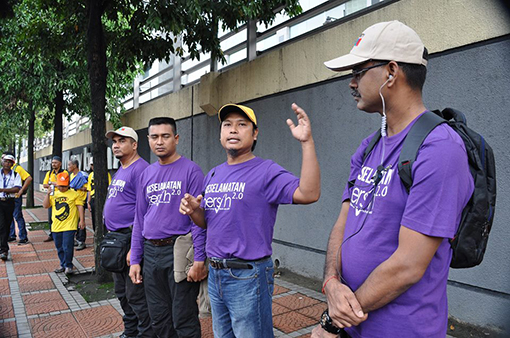 The Bersih 5.0 Security Team was formed in the early November 2016 after receiving a mutual agreement between different voluntary corps