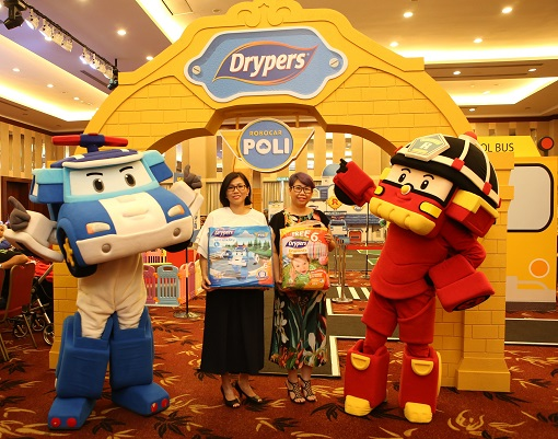 Drypers Features Robocar Poli Design Diapers