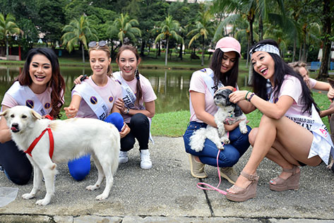 Beauties pose to raise funds for furry friends
