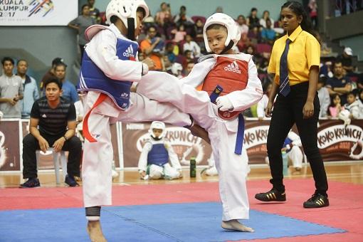 Young taekwondo stars battle for top honours