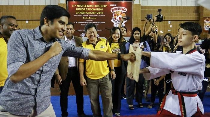Young stars rise at junior taekwondo championship