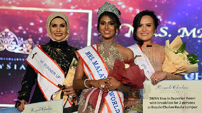 Kokilam Kathirvailu is crowned Mrs Malaysia World 2018