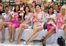 Pageant finalists decorate teddy bears for breast cancer awareness