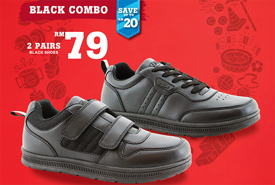 buy online 7e734 ad349 Bata is offering two special deals for customers. The Black Combo offers  two pairs of selected Bata black school shoes at only RM79.