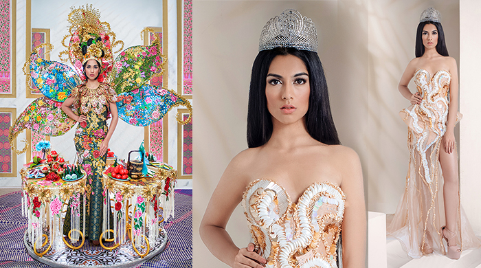 Shweta Sekhon unveils national costume, evening wear for